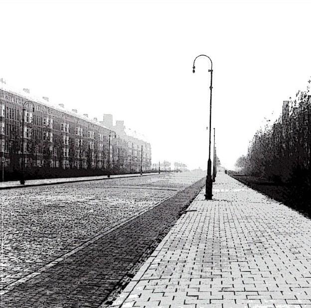 Straat afgebeeld